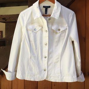 Charter Club white denim jacket